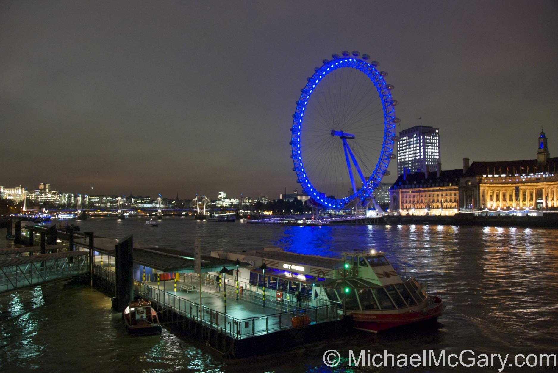 London Eye over the River Thames